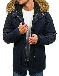 BOLF – Parka long – capuche – fausse fourrure – d'hiver – Homme 4D4