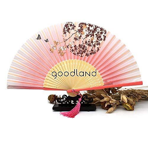 XIAOHAIZI Handfächer,1 Stücke Ahorn Rosa Schwarz Bambus Trim Geschnitzte Faltfächer Hochzeitsdekoration Partei Liefert -