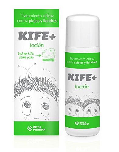 Kife+ 50 – Loción antipiojos infantil con extractos naturales de citronella, 100 ml