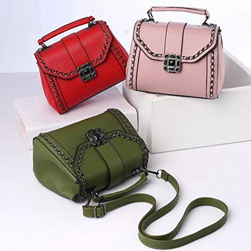 Ms. Bag Mini Messenger Semplice Borsa Red