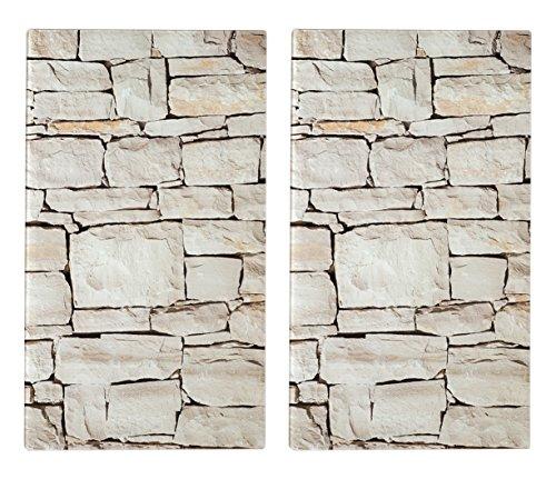Zeller 26294 Lot de 2 Planches à découper, Verre, Coloré, 30 x 52 x 6 cm