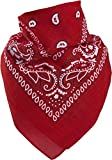 Harrys-Collection Bandana Bindetuch 100% Baumwolle (1 er 6 er oder 12 er Pack), Farbe:12x rot