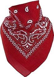 Harrys-Collection Unisex Bandana Bindetuch 100% Baumwolle (1 er 6 er oder 12 er Pack), Farbe:rot