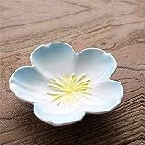YUWANW Würzen, Kleine Schüssel Gewürzschale Creative Mini Plate Keramik Haussoße Dish Sauce Pan - Blau