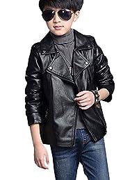 LSERVER-Giacche ecopelle bambino Manica lunga Giubbotti finta pelle moto  Cappotti per Bambini e ragazzi e81c1d2dc9b