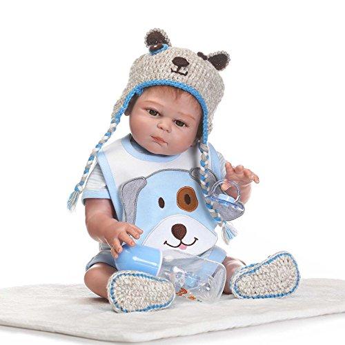ZIYIUI 20pouces 50cm Vinyle en Silicone Complet Reborn Baby Doll Surtout Ressemble...