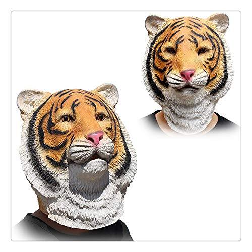 Z-one 1 Deluxe-Maske für Erwachsene, aus Latex mit Löwenkopf, Gelb
