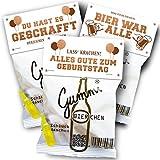 Vaterbier Gummibierchen Fruchtgummi 3er-Mix, lustiges Mitbringsel, Partygeschenk
