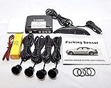 Black Wireless Car reversing parking Four 4 rear sensors with Colour LED displayer