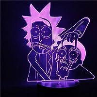 Rick and Morty Cartoon 3d Night Light Lámpara