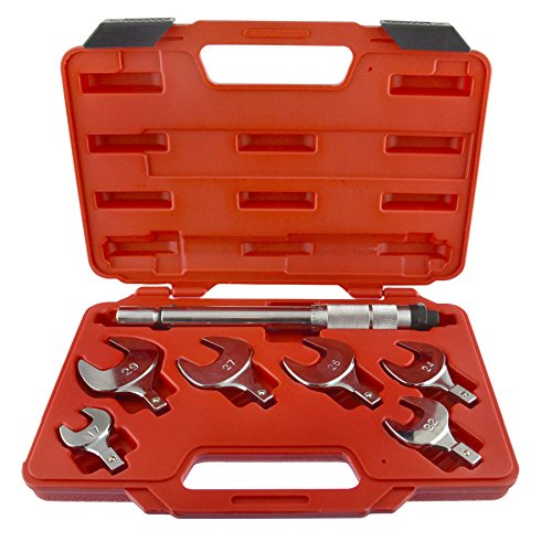 Llave dinamométrica llave cabezas intercambiables con control del par de apriete de 17-29 mm.