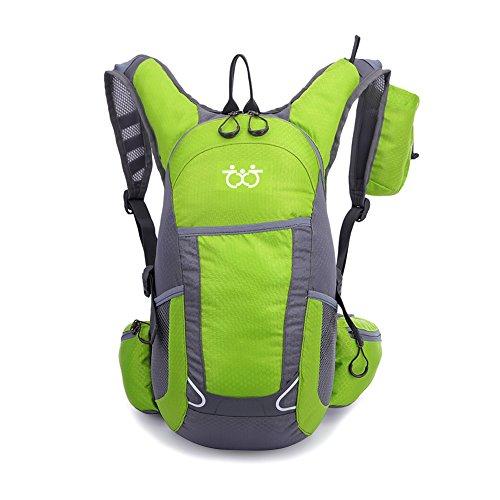 TXJ Wandern Klettern Rucksack Ultraleichte Wasserdichte Outdoor Wanderrucksäcke Radfahren Reiten Reisetaschen, 45 x 25 x 20 cm, 25L (Hellgrün)