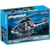 Playmobil - Policias - helicóptero de policia edición usa