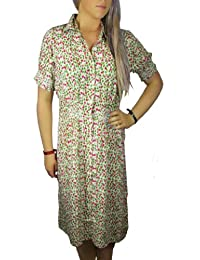 Ladies Really Pretty Loose fitting Green and Pink Floral Dress in Women's Size 8 - 20