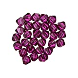 Swarovski perles toupies cristal (502) Fuchsia 4mm pk30