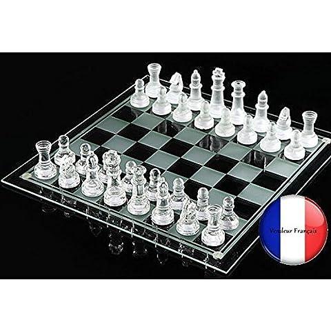 Juego de ajedrez de cristal Con 32 figuras Campo de juego de 20 x 20 cm