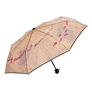 Mapa paraguas pantalla de Harry Potter Marauder con efecto de Aqua mapa de los merodeadores Ø98cm amarillento