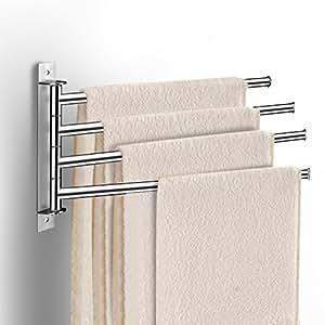 Qobobo portasciugamani a parete in acciaio inox porta for Porte serviettes ikea grundtal