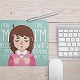 @A Office mousepad Tappetino Per Mouse Con Impermeabile E Grazioso Circolare Di Mouse Pad Con Addensanti Artificiali Cuscino,Ragazza