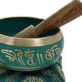 Bell en m?tal bouddhiste tib?tain Bol chantant Instrument de musique pour la m?ditation avec Stick et coussin???Qualit? sup?rieure 12,7?cm 10780