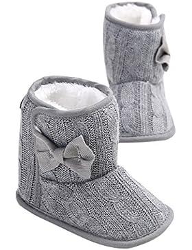 AAA226 Kleinkind Baby Mädchen Bogen Schnee Stiefel Anti-Rutsch Soft Sohle Prewalker Krippe Schuhe