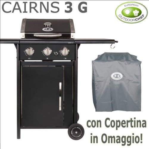 Barbecue rectangulaire à gaz OUTDOORCHEF – Cairns 3 G – Avec Offert