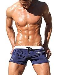 iPretty Bañador de los Hombres Atractivo del Traje con Bolsillo Pantalones Cortos de Playa Surf Spa