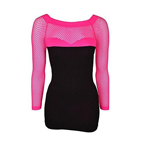 Innocent Lifestyle Ttra Top da donna, estivi, colore: nero, misura unica modesta licenza ufficiale Neon/Pink Taglia unica