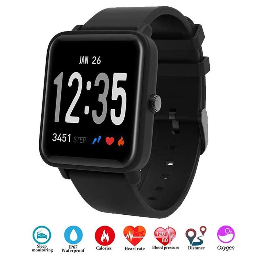 Fitness Tracker IP68 Impermeable Monitor, Letopro Rastreador de Pulsera Actividad Smartwatch Soporte Monitor de ritmo… 1