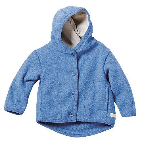 Disana Disana Baby und Kinder Walk Jacke 323 aus Bio Schurwolle kbT (62/68, Blau-A)