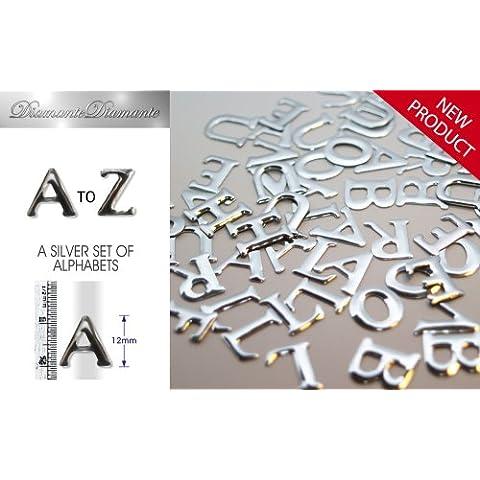 Con lettere alfabeto dalla A Diamante, in argento, 1 each,