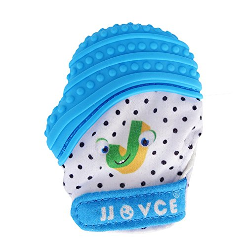 Baby Teething Mitten, Silicone Teething Mitt Teether Gloves BPA Free infant Teething Gloves Self- Soothing baby shower gift toy with bag 51H1JY 2BuGfL