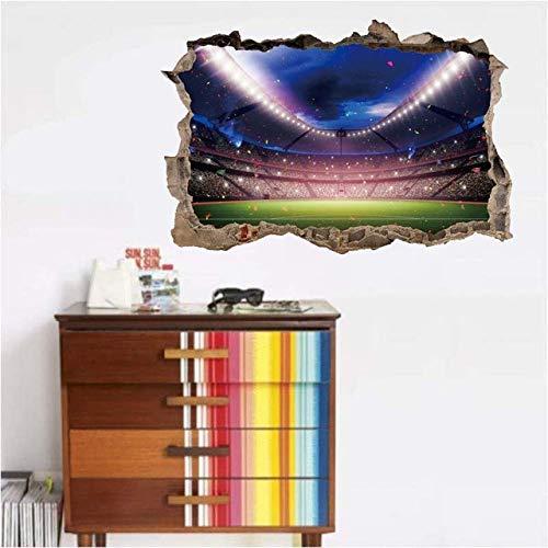apete Fußballplatz Feld 3D Wandaufkleber Für Kinderzimmer Wohnkultur Fußball Wandtattoos Kunst Wandbild Poster Aufkleber ()