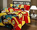 Factorywala 3D Minions Cartoon Print Poly Cotton Blanket/Dohar - Single, (Multicolor)