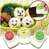 EQLEF® 3 PCS lindo sonrisa Sushi en relieve dispositivo Sushi Nori arroz molde Bento fabricante DIY herramienta