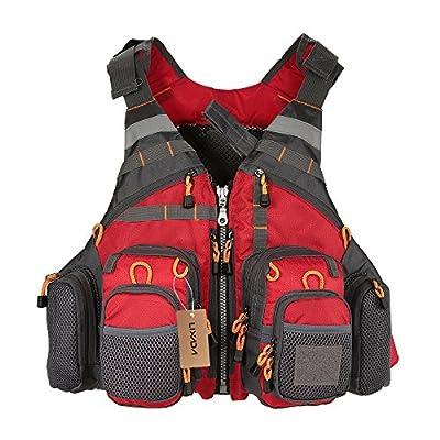 Lixada Fishing Life Vest - Fishing Vest Pack - Life Safety Jacket - Swimming Sailing Waistcoat Utility Vest Floatation Floating Device from Lixada