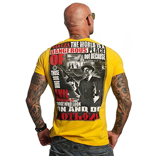 Yakuza Original Herren Dangerous Place T-Shirt gold fusion