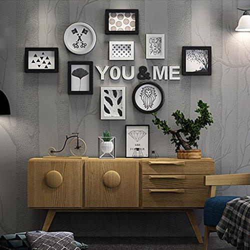 Rahmen Deko Foto Wall Wand modern minimalistische Dekorative Kombination, Creative Living Room Persönlichkeit dekorativen Wand (Farbe: B)