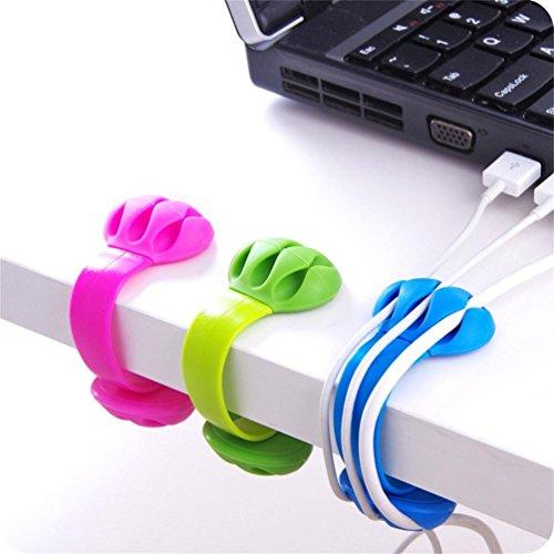Pro Series Plus Usb (Desktop-Befestigungen HKFV 3X Kabel Drop Clip Schreibtisch Aufgeräumt Veranstalter Draht Kabel Blei USB Ladegerät Halter Fixer 3PC Desktop-Firmware Fadenverschlüsse)