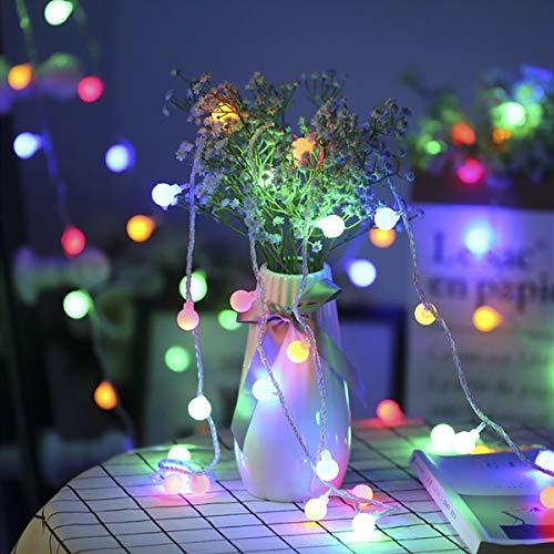 LE 100er LED Kugel Lichterkette 13M, Strombetrieben mit Stecker, 8 Modi und Merk-Funktion, Stimmungslichter ideale Weihnachtsbeleuchtung für Innen, Zimmer, Party, Deko usw. Mehrfarbig