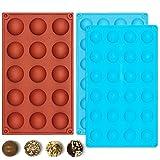 IHUIXINHE Silikon Schokoladenform,3PCS Silikonform für Schokoladen Herstellen für Eiswürfelformer Pralinen Schokolade Trüffel Schokoladenform