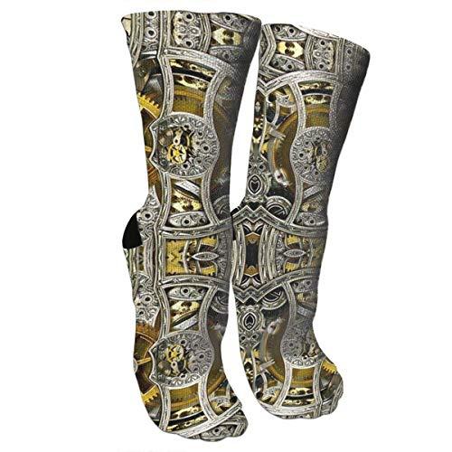 Nifdhkw Unisex Colorful Patterned Socks Compression Socks for Clockworks Crew Socks