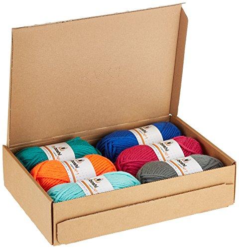 Noris Spiele 606311691 Original myboshi Wolle Set Nummer 1, 6x 50 g, farbmix (nicht wählbar)
