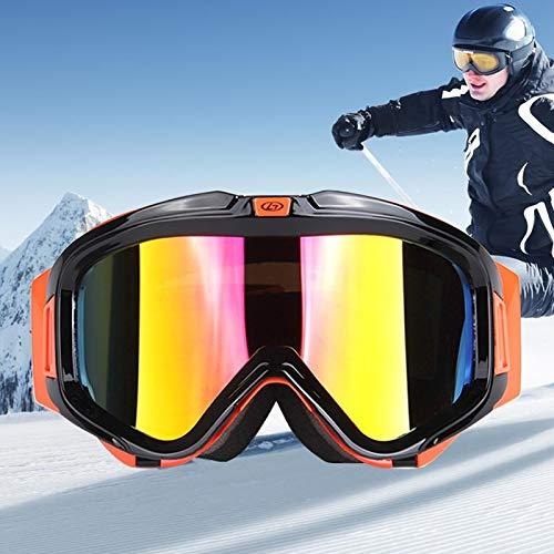 Yiph-Sunglass Sonnenbrillen Mode H007 Unisex-Gürtelschnalle mit Zwei Schichten Anti-Fog-Windschutz UV-Schutzbrille mit verstellbarem erweiterten Riemen (Artikelnummer : Og5216b)