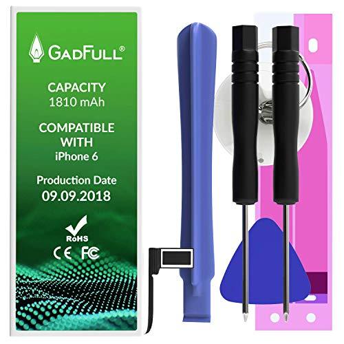 GadFull Batteria compatibile con iPhone 6 | 2018 Data di produzione | Manuale Profi Kit Set di Attrezzi | Batteria di ricambio senza cicli di ricarica | Con tutti gli APN originali