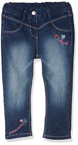 s.Oliver Baby-Mädchen Jeans 65.801.71.3080, Blau (Blue Denim Stretch 57Z2), 80 (Bestickte Stretch-denim)