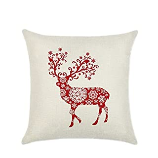 Sofa Pillow Case Cushion Cover Throw Pillow Case Bed Home Decor Lovely Christmas Decorative Linen for Car by Awhao B