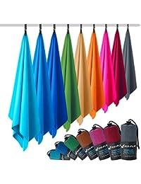 Fit-Flip Microfaser Handtücher in Allen Größen / 12 Farben - Ultra leicht, kompakt, schnelltrocknend - Mikrofaser Handtuch - das perfekte Sporthandtuch, Strandhandtuch und Reisehandtuch