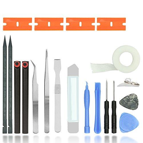 Smartphone Repair Set, hochwertiges Universal Präzisions- Reparatur Set u.a. für alle Apple Geräte, die Pentalobe 0.8 / TS1 / P2 benötigen | MacBook / Air / Pro / Retina | iMac | iPad | iPod | iPhone X, 8 Plus, 8, 7 Plus, 7, 6s Plus, 6S, 6, SE, 5c, 5s, 5, 4s, 4 | HTC U11 | Huawei Mate 9 | LG G6 | Nokia | One Plus 3T | Samsung Galaxy S8 S8 Plus S2 S3 S4 S5 S6 S7 | Sony Xperia XZ | Smartphones | Laptops | Tablets | PSP | Multimedia | 19 tlg. | Professional Repair Opening Tool Kit | iTecXpress24 (Imac-tool-kit)