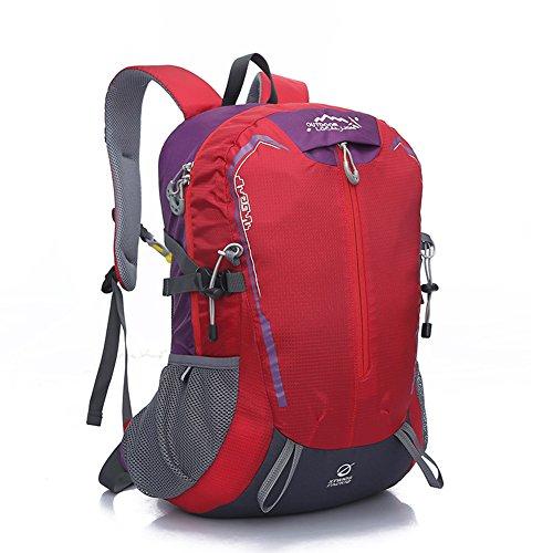 Diamond Candy Zaino da Trekking Outdoor Donna e Uomo con Protezione Impermeabile per alpinismo arrampicata equitazione ad Alta Capacitš€ borsa da viaggio,Multifunzione, 32 litri Rosso